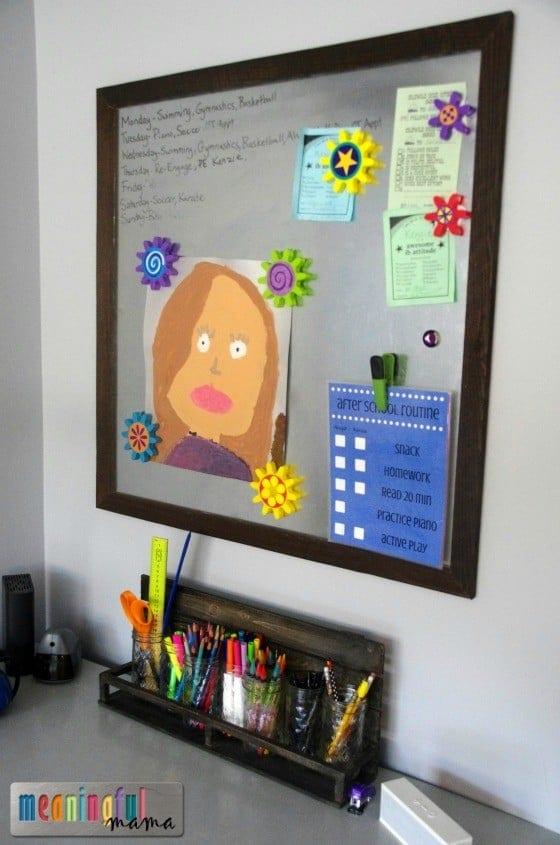 DIY Metal Dry Erase Board