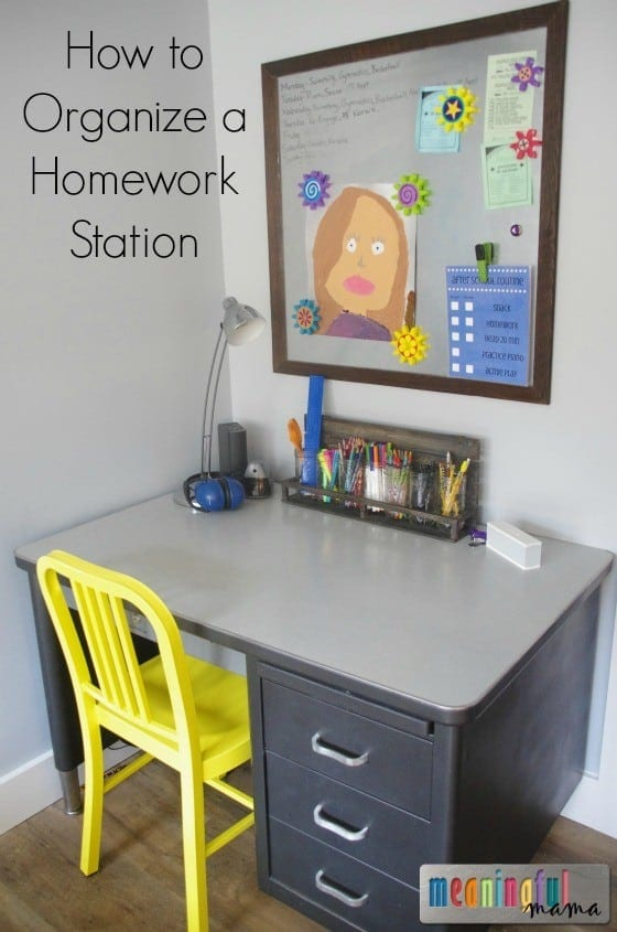 How to Organize a Homework Station for Kids Oct 29, 2015, 11-34 AM