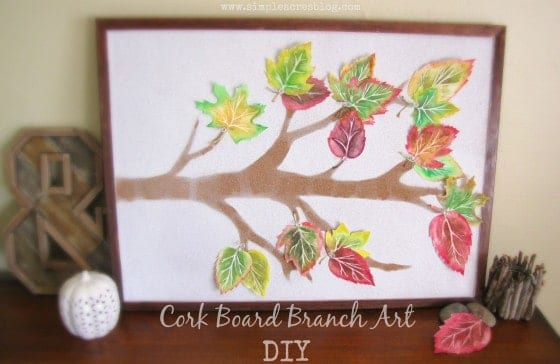 Up cycled Branch Art Cork Board