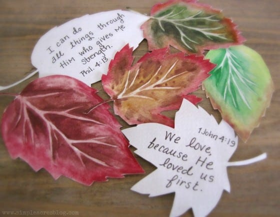 Fall Watercolor Bible Craft