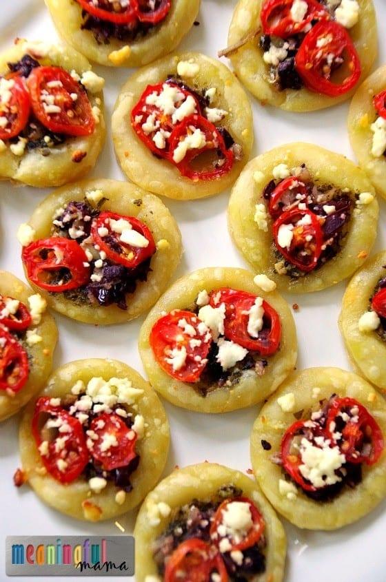 Mediterranean Tartlet Appetizer - Puff Pastry Recipe Idea