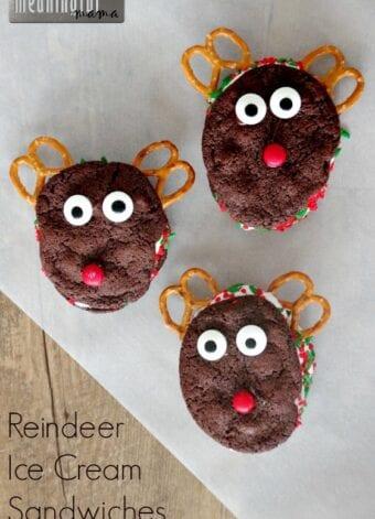 Reindeer Ice Cream Sandwiches