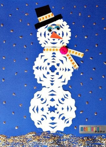 Snowman Snowflake Craft for Kids
