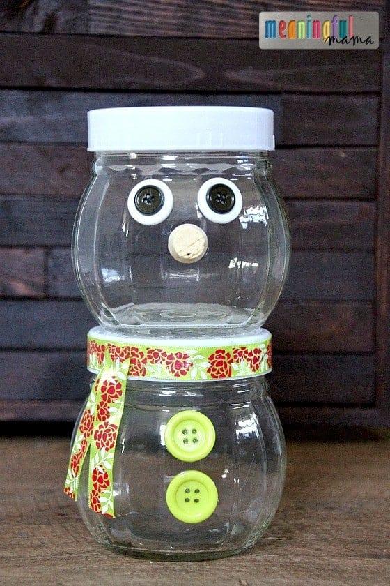 Snowman Chocolate Gift Idea - DIY Snowman Container