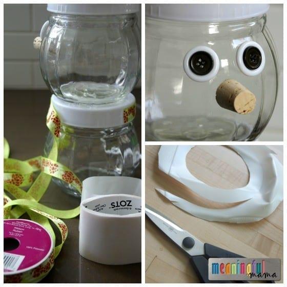 Snowman DIY Gift Jars