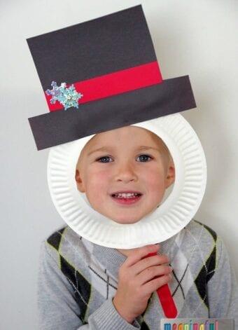 Snowman Paper Plate Masks