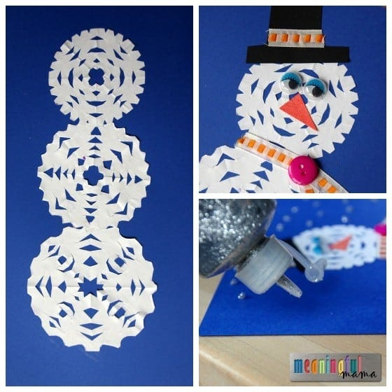 Snowman Snowflake Craft Tutorial