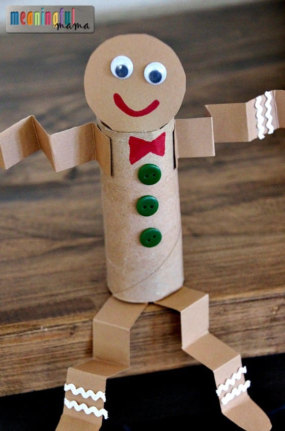 man craft ideas toilet paper roll gingerbread craft 2373