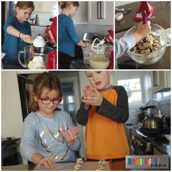 Mini Chip Snowball Cookies - Math Fun