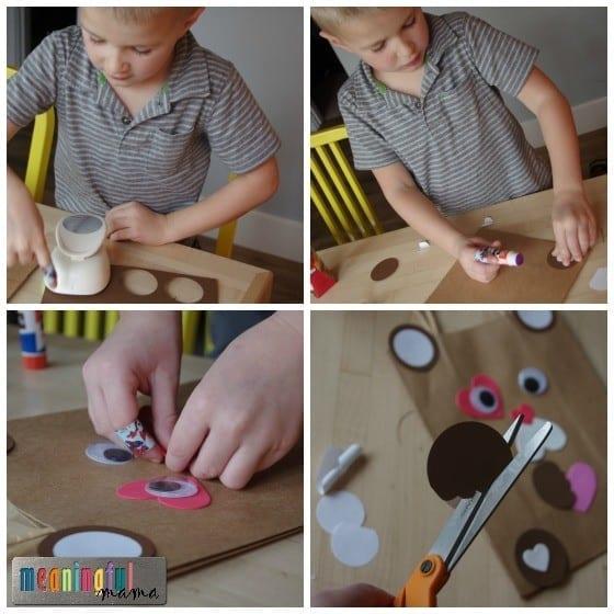Teddy Bear Valentine Mailbox Bags DIY