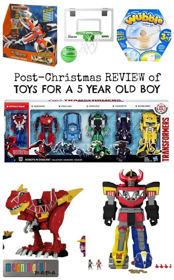 Toys For 5 Year Olds : Post christmas review of boy toys