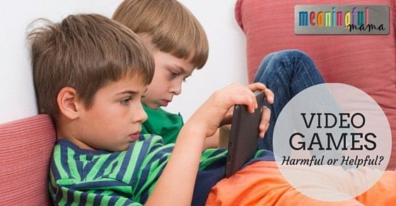 Video Games for Kids - Harmful or Helpful? Are video games hurting our kids?