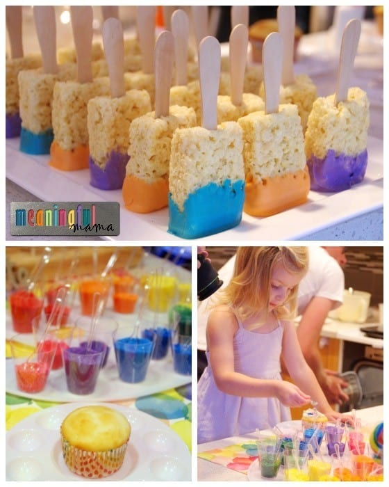 Dessert Ideas for an Art Party