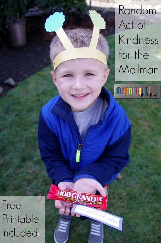 Random Act of Kindness for Kids and the Mailman Feb 9, 2016, 12-36 PM