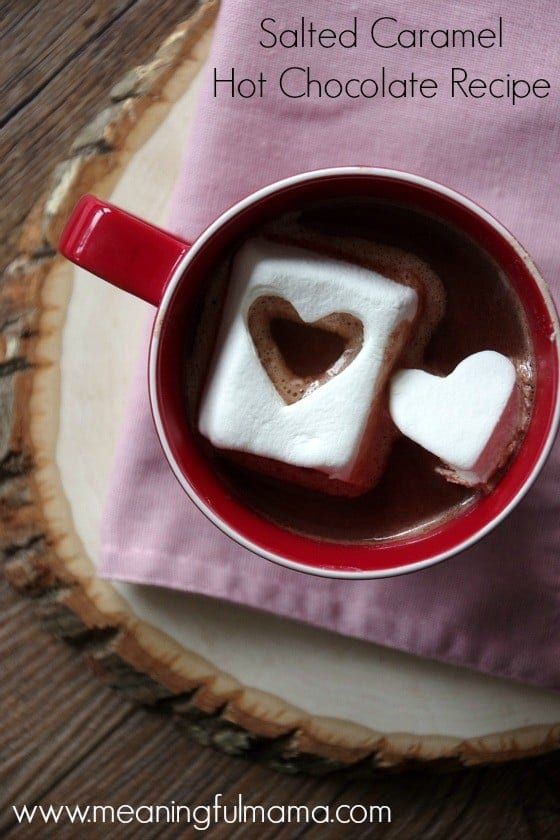 Salted Caramel Hot Chocolate Recipe for Valentine's Day Jan 25, 2016, 11-12 AM