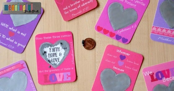Scratch-Off Bible Verse Printable for Valentine's Day