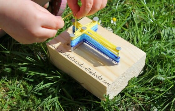 Yarn Cross Craft for Kids