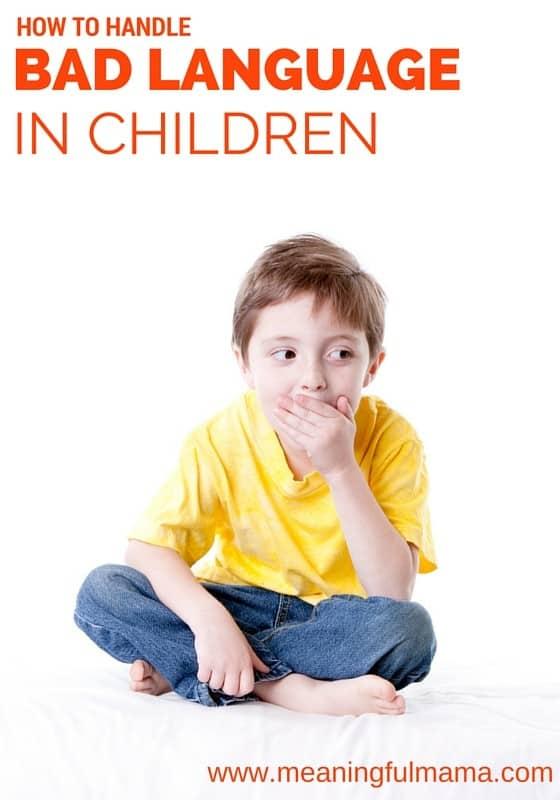 How to Handle Bad Language in Children - Parenting