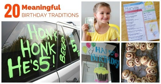 Meaningful Birthday Traditions for Kids