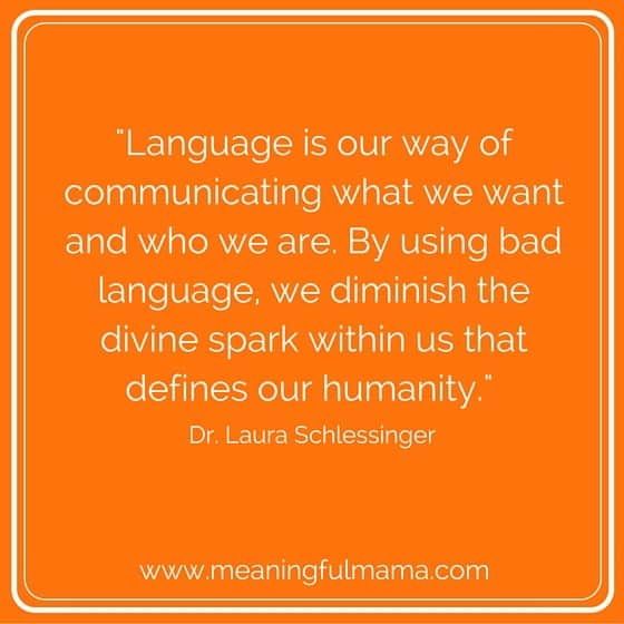 quote about bad language