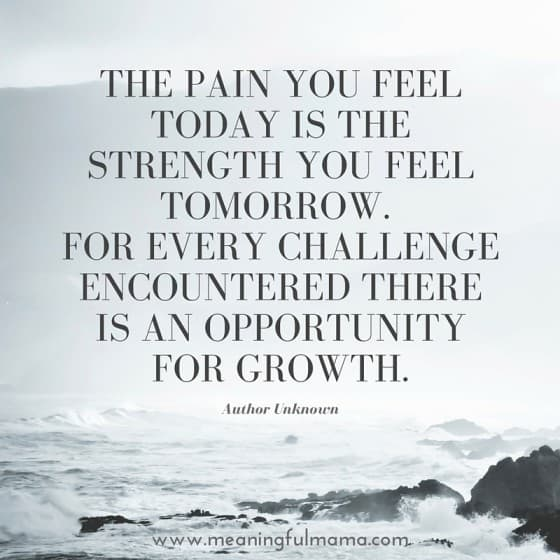 quote about suffering and pain and growth
