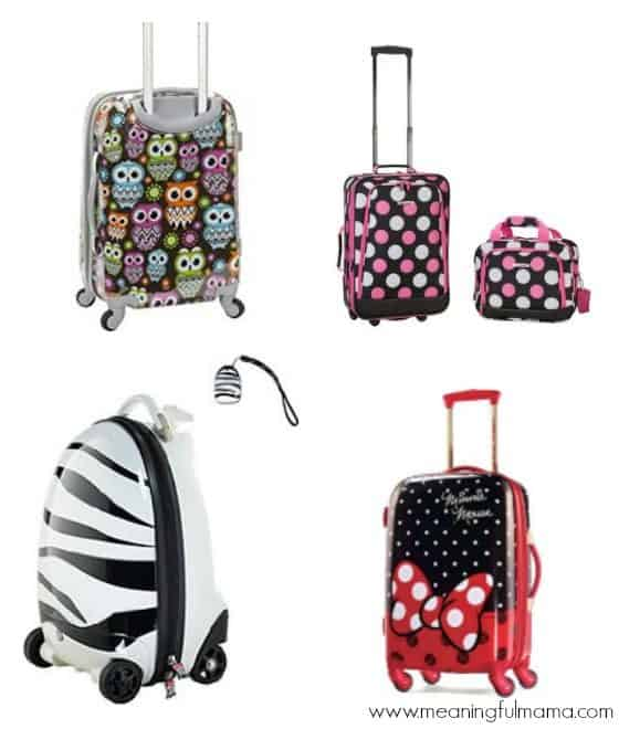 Cute Suitcases and Luggage for Girls and Kids