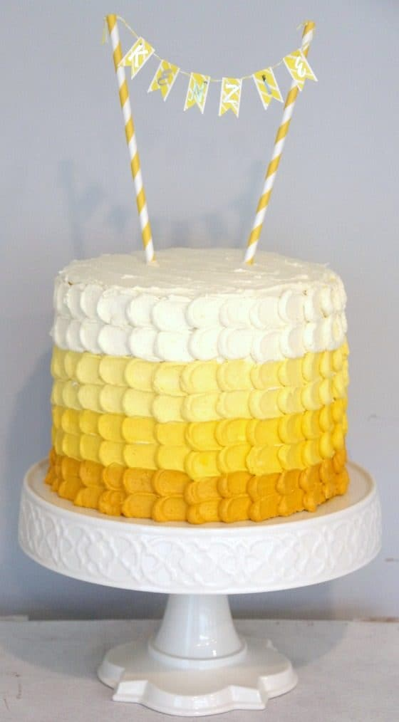 Sunshine Ombre Birthday Cake Tutorial Apr 2, 2016, 12-47 PM