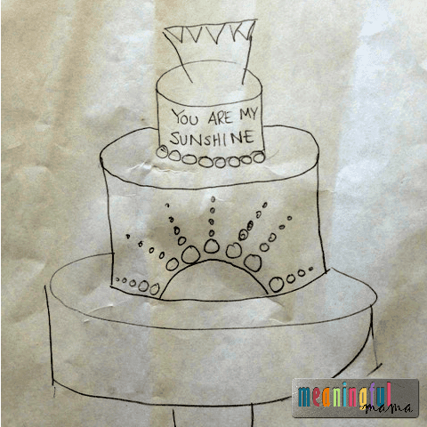 sunshine party cake design