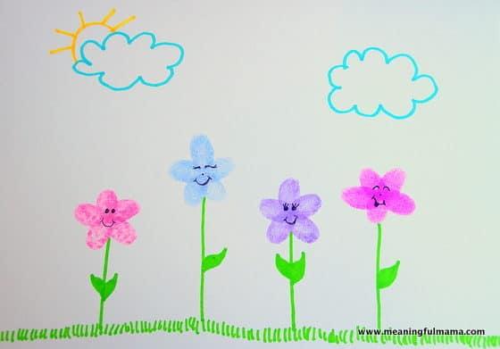 1-Fingerprint Flower Craft Apr 7, 2016, 1-20 PM