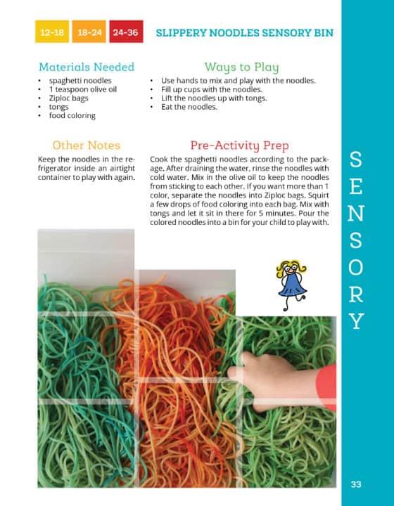 Noodles Sensory Bin
