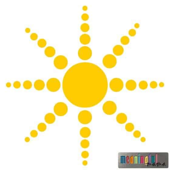 Sunshine Polka Dot Graphic for Blog