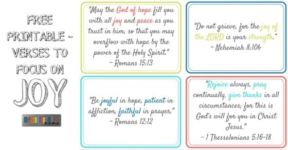 Printable with Verses on Joy - Facebook