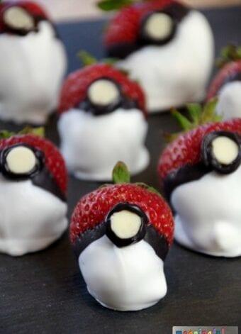 Chocolate Covered Strawberry Pokemon Go Balls