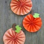Paper Pumpkin Pinwheel Craft