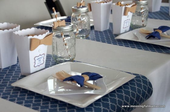 Bow Tie Boy Baby Shower Table Setting