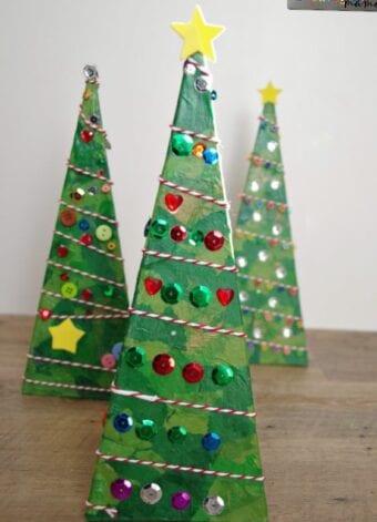 3-D Pyramid Christmas Tree Craft