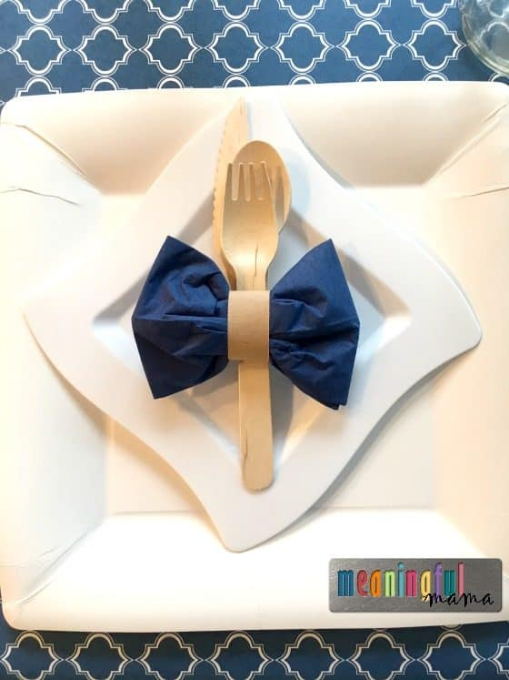 bow-tie-napkin-boy-baby-shower-theme