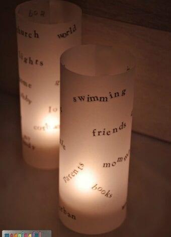 Vellum Thankfulness Luminaries