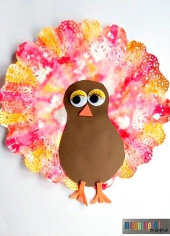 Doily Turkey Craft for Kids