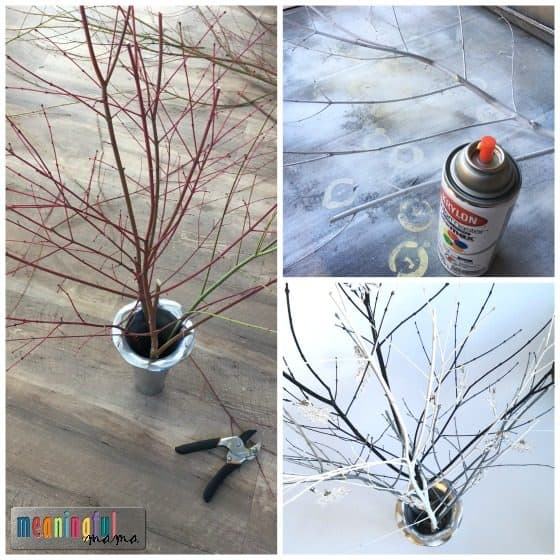 how to make an ornament display tree