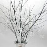DIY Swarovski Crystal Snowflake Display Tree
