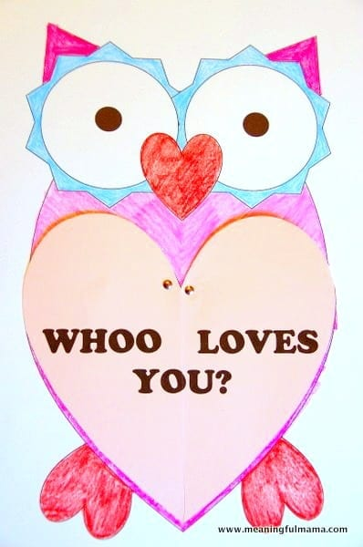 image regarding Owl Printable named Owl Valentine with Printable