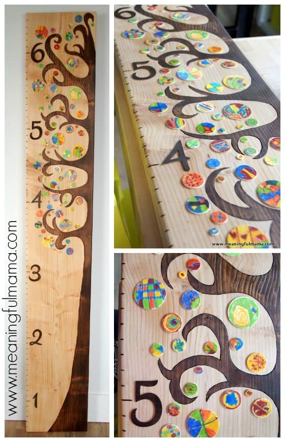 Classroom Experiment Ideas ~ Diy wooden tree growth chart