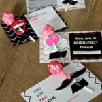 Lollipop Lips and Mustache Printable for Valentine's Day