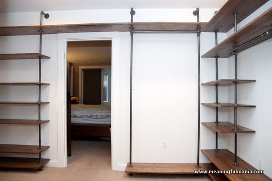 DIY Industrial Pipe Walk-In Closet