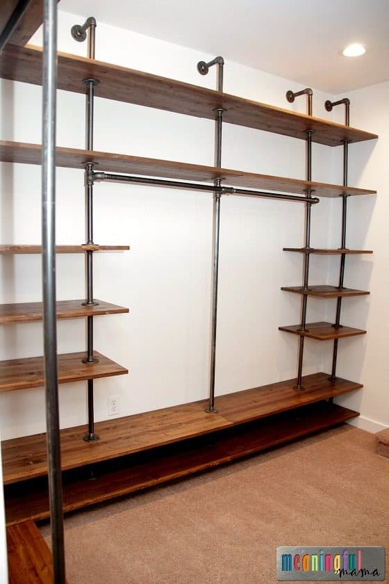 How to Build a DIY Industrial Pipe Walk-In Closet
