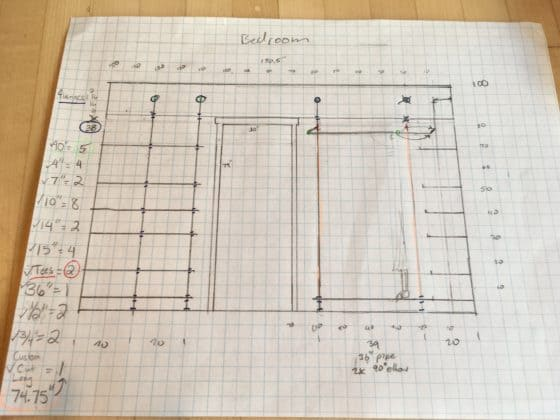 Plans for DIY Industrial Pipe Walk-In Closet