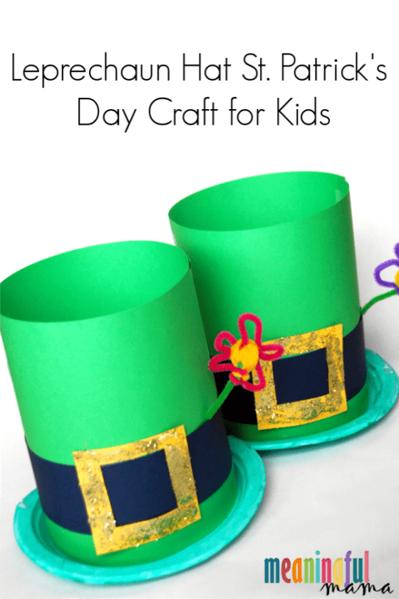 Leprechaun Hat St Patrick S Day Craft For Kids