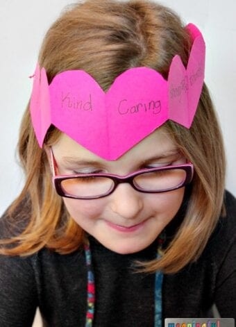 Paper Heart Crown