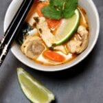 Thai Chicken in a Lime Coconut Red Curry Sauce